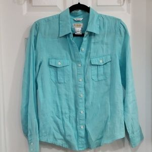 Talbots petites button down shirt